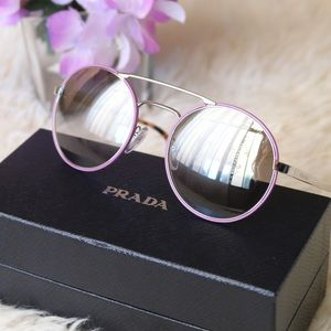 New Prada Round Mirror Sunglasses